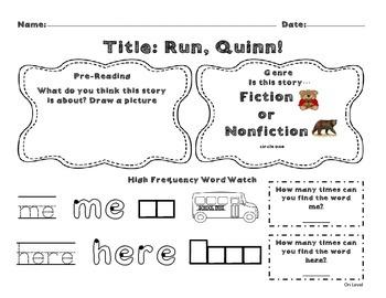 Unit 8 Week 1 Kindergarten McGraw Hill Wonders Guided Reading Supplemental Pack