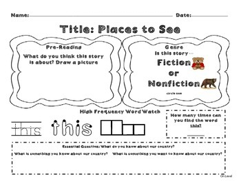 Unit 8 Week 2 Kindergarten McGraw Hill Wonders Guided Read