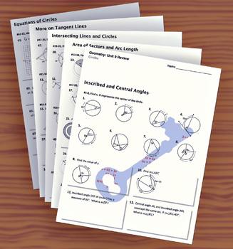 Unit 9– Circles; Unit Review Packet & Key