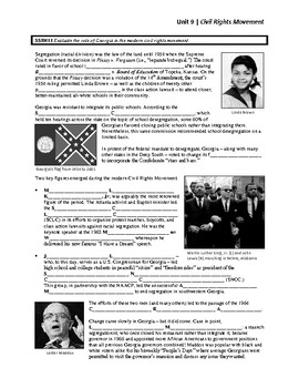 Unit 9 - Civil Rights Movement (SS8H11)