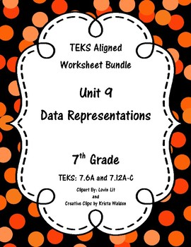 Unit 9 - Data Representations - Worksheets - 7th Grade Math TEKS