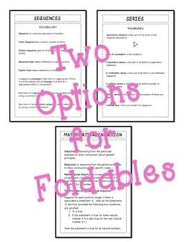 PreCalculus: Discrete Mathematics FOLDABLES Bundle