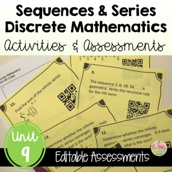 PreCalculus: Discrete Mathematics Review & Assessment Bundle