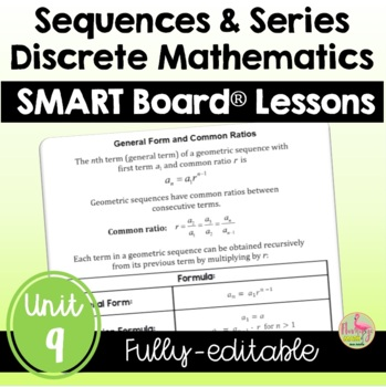 PreCalculus: Discrete Mathematics SMART Board®  Lessons Bundle