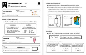 Unit 9 - Electricity & Magnetism - Whole Unit