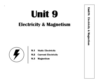 Unit 9 - Electricity & Magnetism - Whole Unit