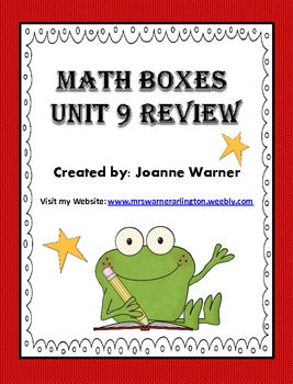 Unit 9 Fractions, Decimals, & Percents Math Boxes Review~4th Grade Everyday Math