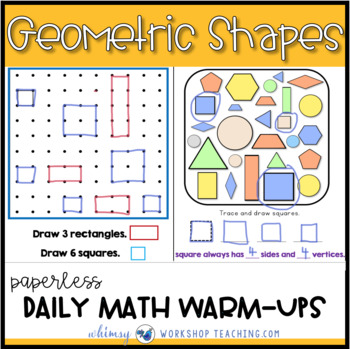 Unit 9 Geometry Symmetry Fractions - Paperless or Printable Lessons