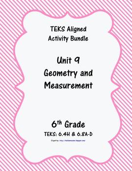 Unit 9 - Geometry and Measurement - Activities - 6th Grade Math TEKS