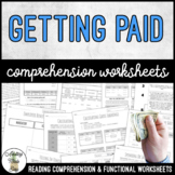 Unit 9 Getting Paid - Reading Comprehension & Functional Worksheets