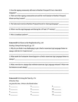 Signing Naturally Unit 9 Workbook Packet