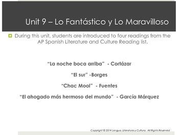 Unit 9 - Lo Fantástico y Lo Maravilloso - AP Spanish Literature and Culture