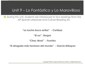 Unit 9 - Lo Fantástico y Lo Maravilloso - AP Spanish Literature and Culture