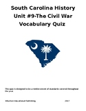 Unit 9- The Civil War Vocabulary Quiz