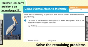 EM4. Everyday Math. Third Grade. Unit 9. SMARTboard Lessons. (Grade 3)