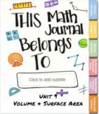 Unit 9 Volume & Surface Area Digital Interactive Notebook TEKS 8.6ab 8.7ab
