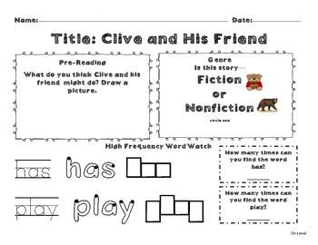 Unit 9 Week 2 Kindergarten McGraw Hill Wonders Guided Reading Supplemental Pack