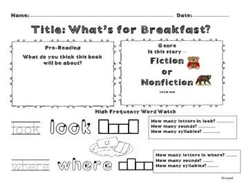 Unit 9 Week 3 Kindergarten McGraw Hill Wonders Guided Reading Supplemental Pack