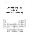 Chem 20 Unit A Chemical Bonding Workbook
