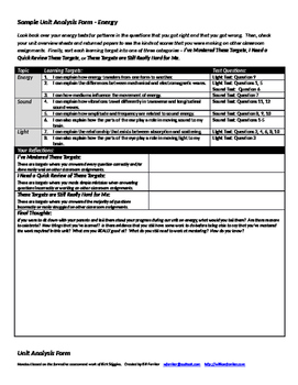 Unit Analysis Forms