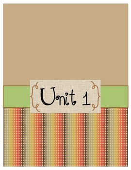 Unit Binder Cover sheets (units 1-6)