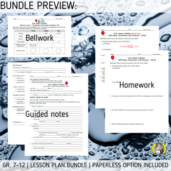 BUNDLE: States of Matter - Kinetic Molecular Theory and Intermolecular Force