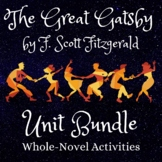 Unit Bundle | The Great Gatsby by F. Scott Fitzgerald | Wh