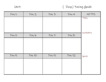Pacing Guide Template Worksheets & Teaching Resources | TpT