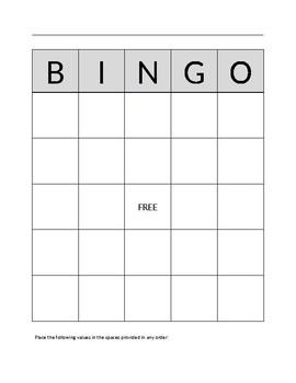 Unit Circle Bingo
