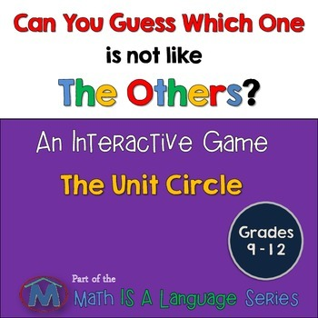Unit Circle - Can you guess which one? Game I