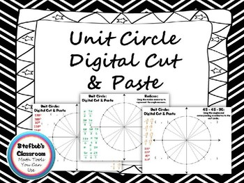 Unit Circle Digital Cut and Paste