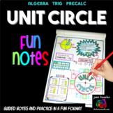 Unit Circle FUN Notes Doodle Pages