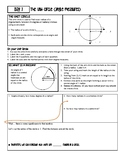Unit Circle Guided Notes and Interactive Unit Circle