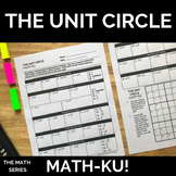 Unit Circle Math-ku Activity