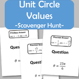 Unit Circle Values Scavenger Hunt (CCSS.HSF.TF.A.3)