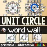 Unit Circle Word Wall - print and digital