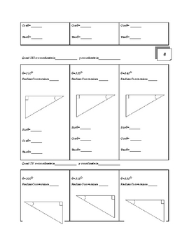 Unit Circle and Special Right Triangle Flip Book Project
