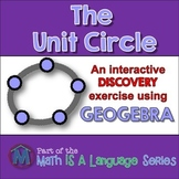 Unit Circle - interactive discovery exercise - Geogebra