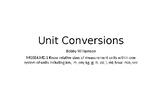Unit Conversion Lesson PPT 4th grade