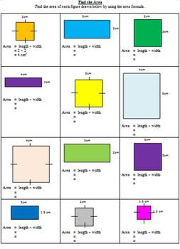 Unit Conversion, Perimeter & Area Pack