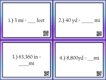 Unit Conversion Task Cards