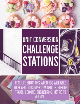 Unit Conversion (Unit Factor Method) Challenge Stations