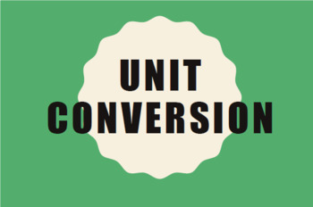 Unit Conversion worksheet