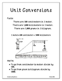 Physics: Unit Conversions Poster