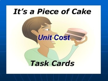 Unit Costs Task Cards