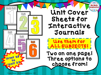 Unit Cover Pages for Interactive Journals
