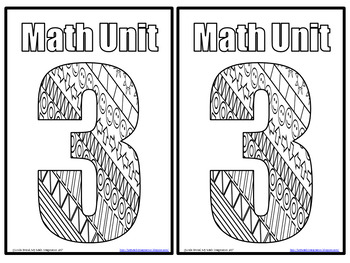 Unit Cover Pages for Math Interactive Journals