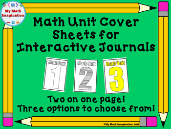Unit Cover Pages for Math