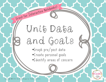 Unit Data and Goals Foldable: Interactive Notebook Freebie