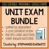 Editable Unit Exam Bundle